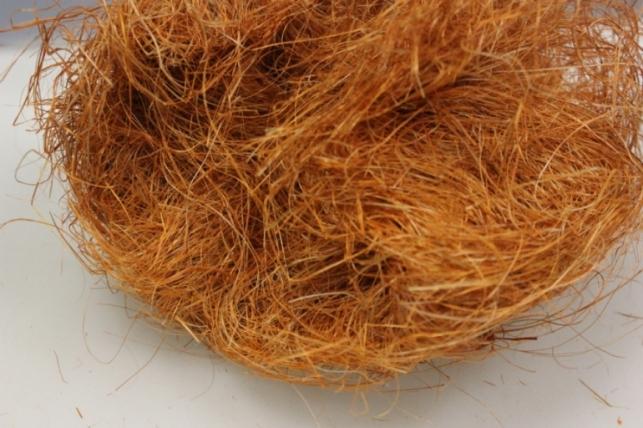 Сизалевое волокно Темно-оранжевое (100гр) в пакете