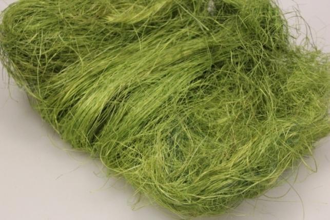 Сизалевое волокно Темно-салатовое (100гр) в пакете