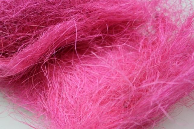 сизалевое волокно ярко-розовое (100гр) в пакете