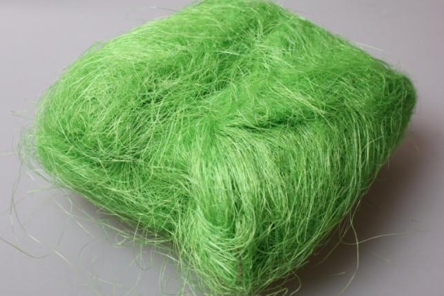 Сизалевое волокно Зеленая трава (100гр) в пакете