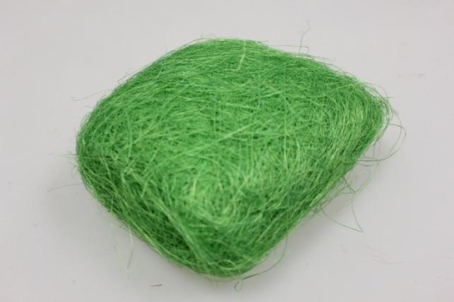 сизалевое волокно зеленое (100гр) в пакете