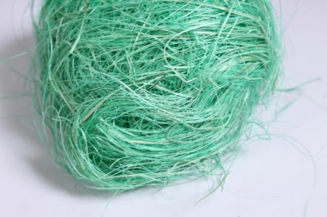 сизалевое волокно - зеленое яблоко (50гр)