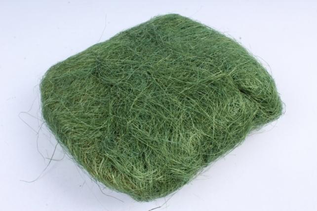 Сизалевое  волокно Трава Зеленая  (100гр) в пакете