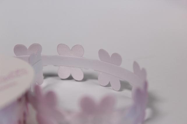 скотч декоративный бело-розовый 18мм*1,5м