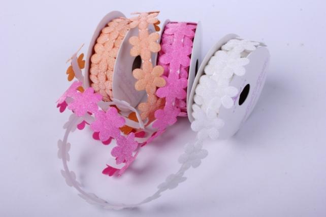 скотч декоративный цветы однотонные 18мм*1,5м  (24 шт в уп)  лс881-1