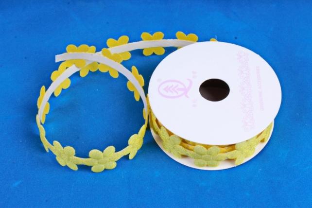 Скотч декоративный ЦВЕТЫ однотонные желтый 18мм*1,5м (1шт) ЛС881-1