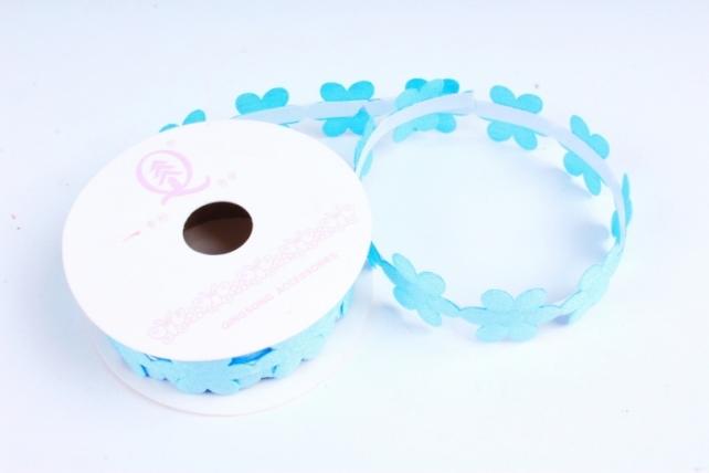 Скотч декоративный ЦВЕТЫ однотонные голубой 18мм*1,5м (1шт) ЛС881-1