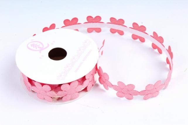 Скотч декоративный ЦВЕТЫ однотонные лосось 18мм*1,5м (1шт) ЛС881-1