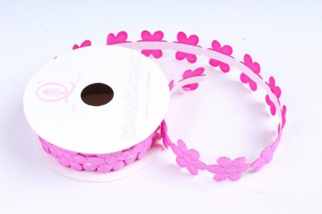 Скотч декоративный ЦВЕТЫ однотонные малиновый18мм*1,5м (1шт) ЛС881-1