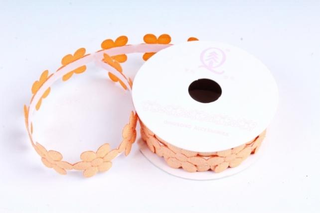 Скотч декоративный ЦВЕТЫ однотонные оранжевый 18мм*1,5м (1шт) ЛС881-1