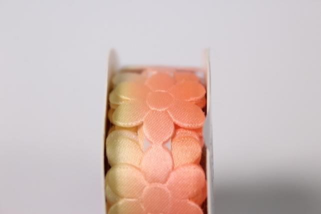 скотч декоративный желто-оранжевый 18мм*1,5м