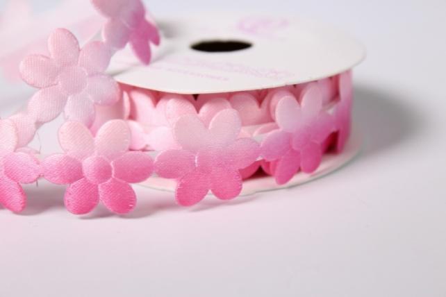 скотч декоративный розово-малиновый 18мм*1,5м