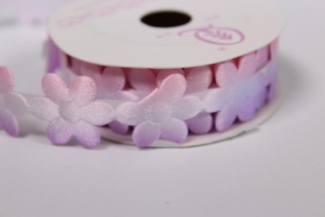 скотч декоративный розово-сиреневый 18мм*1,5м