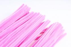 Скрутики Розовые 30 см(100 шт в уп) NO.39