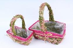 SL17036 Комплект корзин из травы набор из 2-х шт