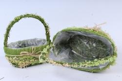 sl17048 комплект корзин из травы набор из 2-х шт