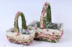 SL17059 Комплект корзин из травы набор из 2-х шт