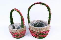 SL18A591 Комплект корзин из травы набор из 2-х шт