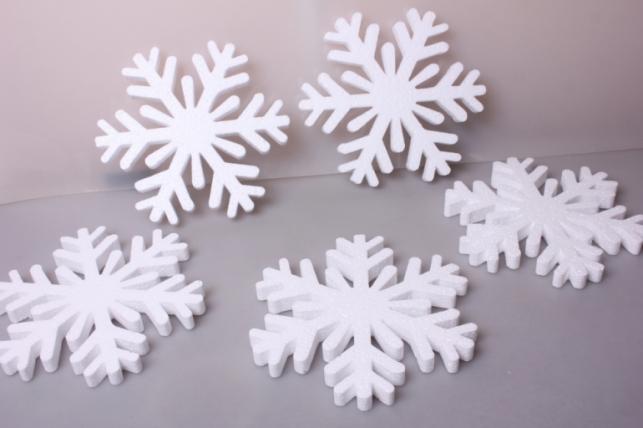 Снежинки (ассорт) 20х20х1,5см (5 шт в уп)