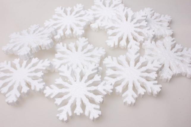Снежинки в ассортименте (10шт) 10х10х1см