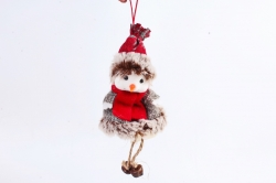 Снеговик с бубенчиками 13х6cm  NSC06