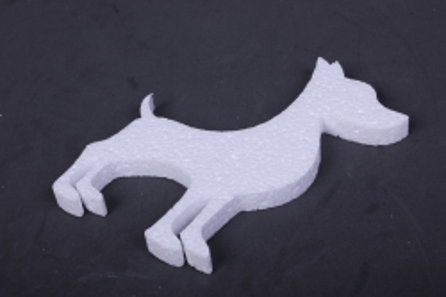 собака пенопласт вид 3,  арт. 05-ж