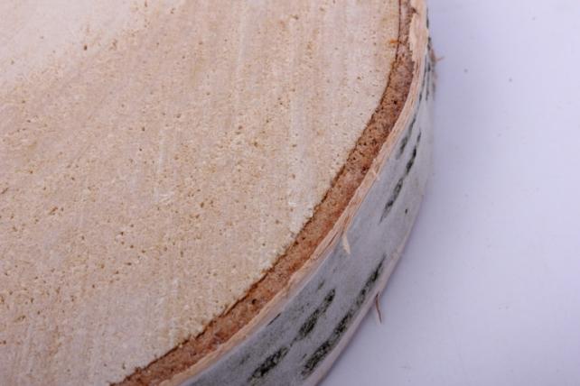 спил березовый 15 см  шлифованный (1шт в сетке)