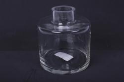 """Стеклянная """"Бутылочная"""" ваза d=14 h=17,5см 2741"""