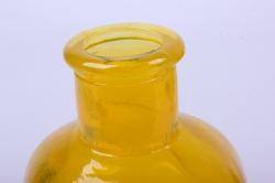 стеклянная цитадель ваза-бутылка декоративная 1 литр цветной желтый  неон микс без крышки микс-1526