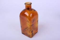 Стеклянная Цитадель Ваза-бутылка декоративная 1 литр цветной Коричневый неон микс БЕЗ КРЫШКИ Микс-1526