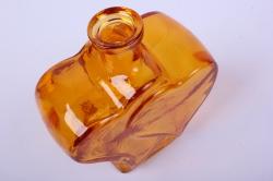 стеклянная фрида ваза-бутылка декоративная цветной миксмикс-1519