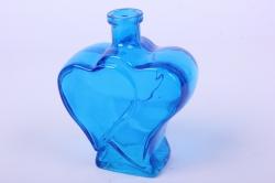 стеклянная фрида ваза-бутылка декоративная цветной микссиний  микс-1519