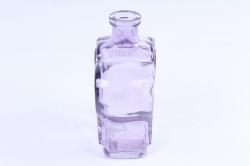 Стеклянная Фрида Ваза-бутылка декоративная цветной миксФиолетовая   Микс-1519