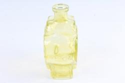 Стеклянная Фрида Ваза-бутылка декоративная цветной миксЖелтая  Микс-1519
