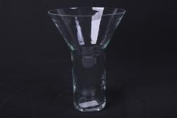 """Стеклянная  """"Горн"""" ваза б. 2002 d=20,5/9 h=28см"""