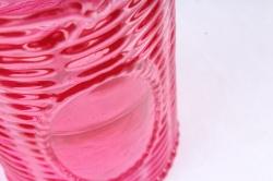 Стеклянная КАНАСТА Ваза-бутылочка декор розово-красная радуга прозрачнаяРадуга- 1491
