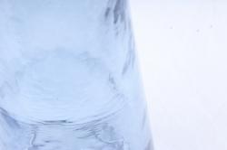 Стеклянная Катерина  Ваза коническая Голубая из стекла прозрачнаямикс-1451
