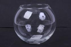 """Стеклянная """"Кюгель-2"""" ваза-шар 2234 d=8/12,5 h=11"""