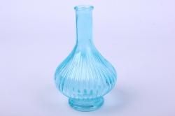 Стеклянная Лас-Вегас Ваза малая декоративная Голубой Н-200ммМикс-1520