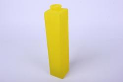 """Стеклянная """"Нарцисс"""" ваза для одного цветка цветная матовый Желтый миксМикс-1554"""