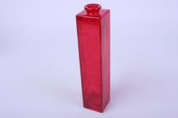 """Стеклянная """"Нарцисс"""" ваза для одного цветка цветная прозрачный Красный миксМикс-1554"""