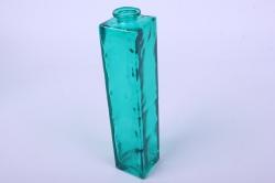 """Стеклянная """"Нарцисс"""" ваза для одного цветка цветная прозрачный Зеленый миксМикс-1554"""