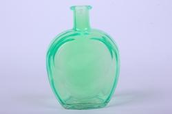 Стеклянная Сердце-1 Ваза-бутылка декоративная цветная Салатовый  миксМикс-1564