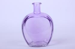 Стеклянная Сердце-1 Ваза-бутылка декоративная цветная Сирень  миксМикс-1564