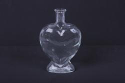 стеклянная сердце-2 ваза-бутылка декоративная1523