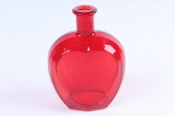 Стеклянная Сердце-1 Ваза-бутылка декоративная цветная Красный  миксМикс-1564