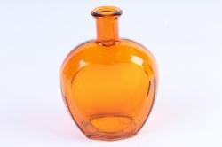 Стеклянная Сердце-1 Ваза-бутылка декоративная цветная Оранжевый  миксМикс-1564