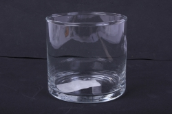 "Стеклянная ""Трубка 107"" ваза м.105 с крышкой6020 d=10,5 h=10см"