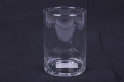 """Стеклянная """"Трубка 107"""" ваза м.155 с крышкой6021"""