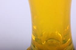"""стеклянная  """"весна"""" ваза  122 малая цветная желтый миксмикс-2594"""